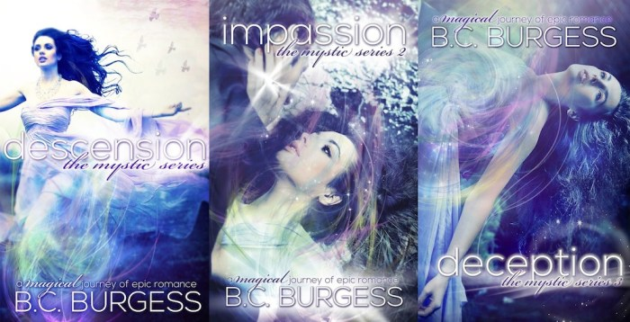 BC Burgess Mystic Series Covers