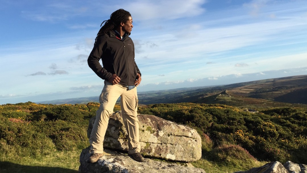 Nigel checking out Dartmoor on set 'The Good Dinosaur - Access All Areas' Filmed in Dartmoor