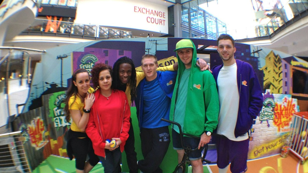 Fruit Shoot Skills Crew 2013 - Laura Biondo, BGirl Roxy, Nigel Clarke, Connor Stringer, Matti Hemmings, Andrew Wilding