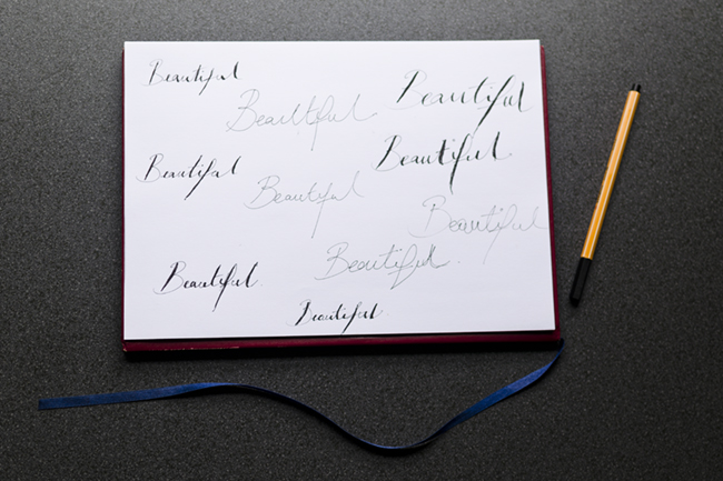 Easy Diy Calligraphy For Your Wedding Invitations In Just 5