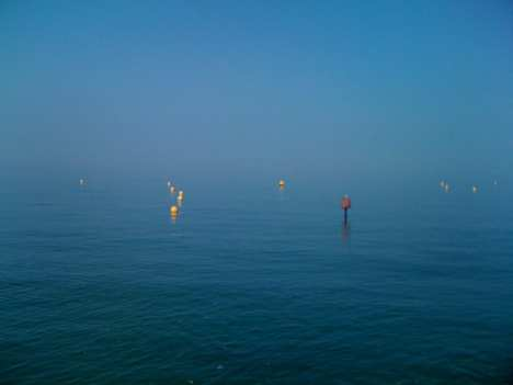 Lights in the mist - photograph copyright Nigel Temple