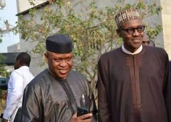 Olorogun O'tega Emerhor and President Muhammadu Buhari