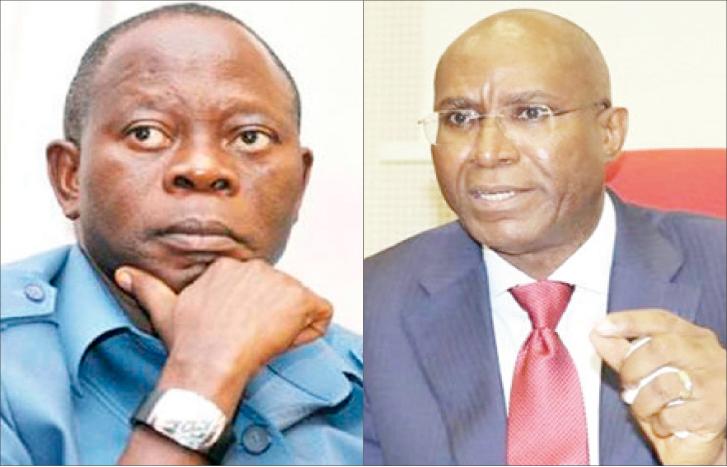 Comrade Adams Oshiomhole and Senator Ovie Omo-Agege