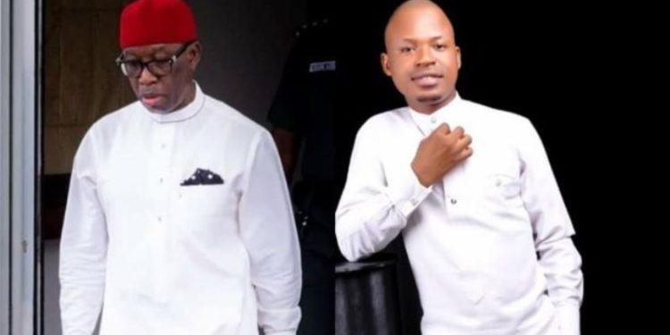 Governor Ifeanyi Okowa and suspended Ovie Ossai