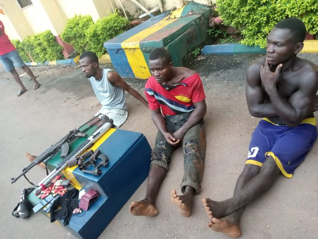 The three kidnap suspects arrested by Ebonyi Police Command