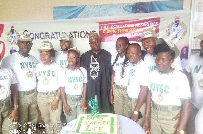 The newly wedded NYSC corps members in Anambra State