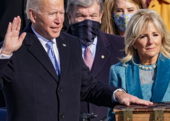 Joe Biden taking oath of office