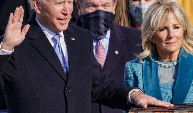 Joe Biden taking oath of office