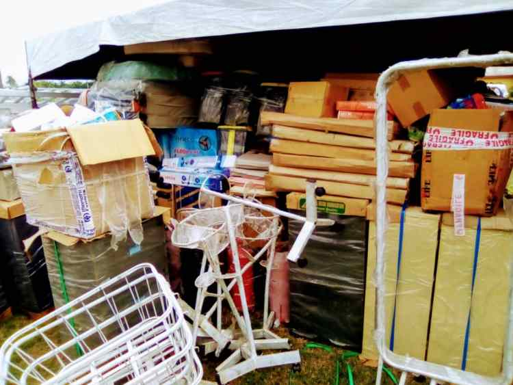 Some of the items donated by Hon Efe Afe