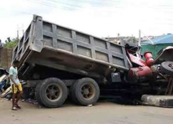 truck loaded with ammunitions falls in Onitsha