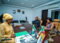 Edo First Lady, Mrs Betsy Obaseki and the couple at the Government House , Benin