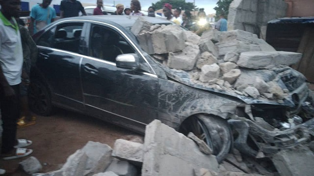 The car being driven by the deceased