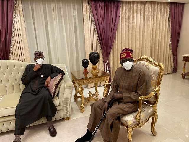 President Buhari and Bola Tinubu meet in London