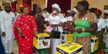 Wife of Inspector General of Police and some police officers wives empowered during her visit to Delta State Police Command