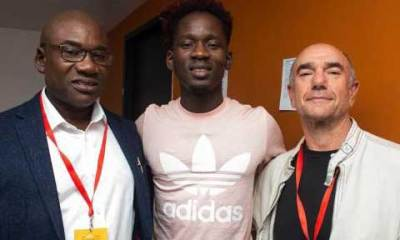 singer mr eazi with father