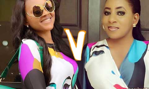 Mercy Aigbe and Mide Martins