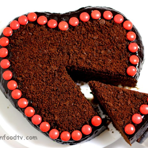 chocolate heart cake recipe