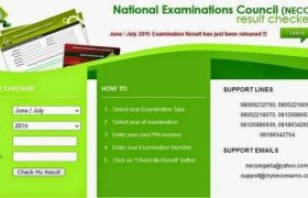 check neco result easily without scratch card