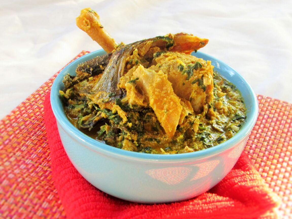 Egusi In Palmnut Cream Smooth Egusi Soup Nigerian Lazy Chef