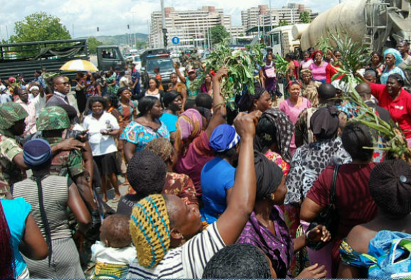 Image result for women youths protest in abuja