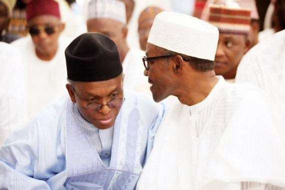 Image result for pictures of buhari and el rufai
