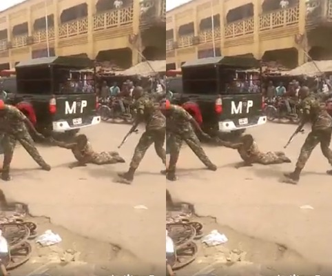 Image result for Army arrests soldiers who brutalised crippled man in Onitsha