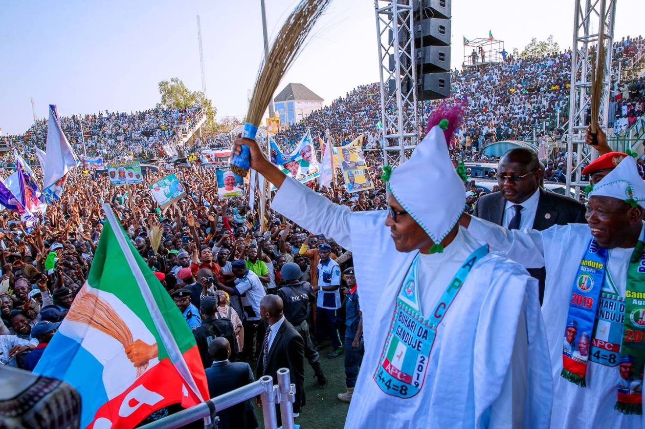 Image result for PDP vs APC: Buhari Is Using Mercenaries For Campaign Rally