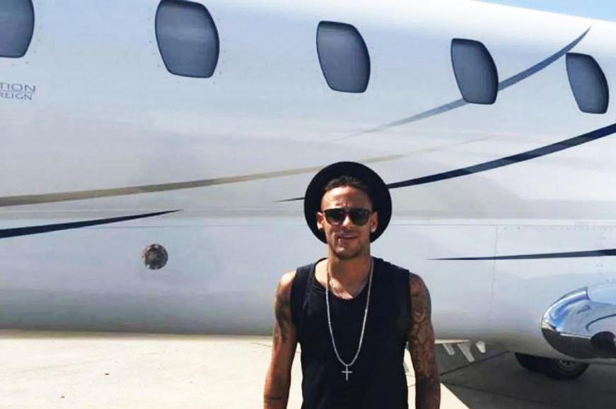 Neymar Jnr Private Jet