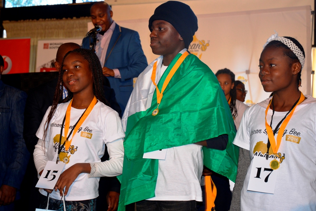 Team Nigeria at the African Spelling Bee Finals in Johannesburg.