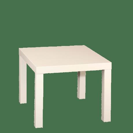 Table basse 55cm x 55cm (noire ou blanche)