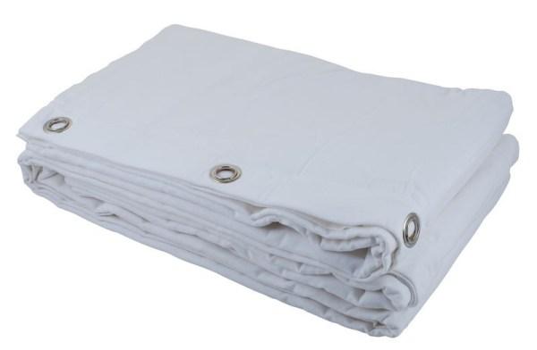 Rideau Blanc Molleton 3m x 3m