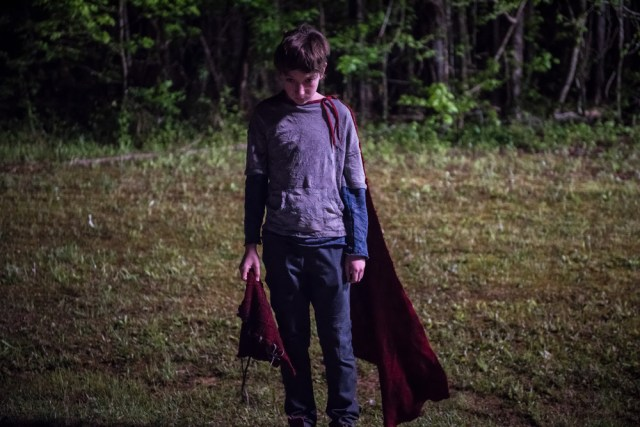 Brandon coming into his powers in BRIGHTBURN