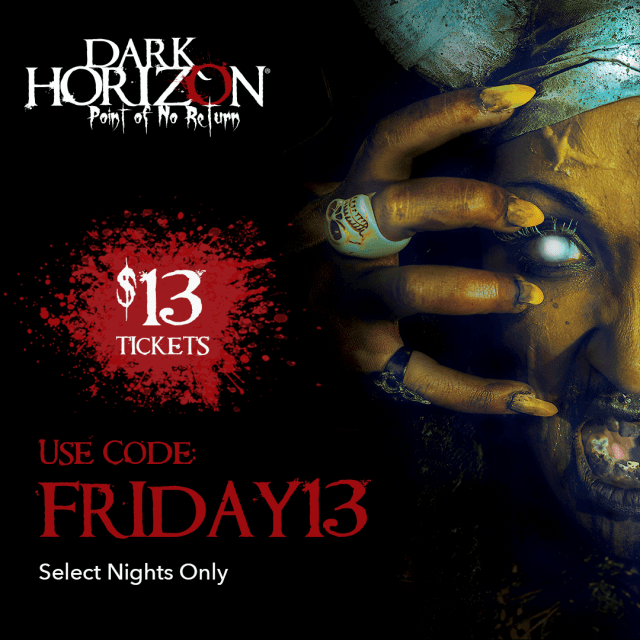 [News] Dark Horizon to Offer $13 Tickets in Celebration of Friday the 13th!