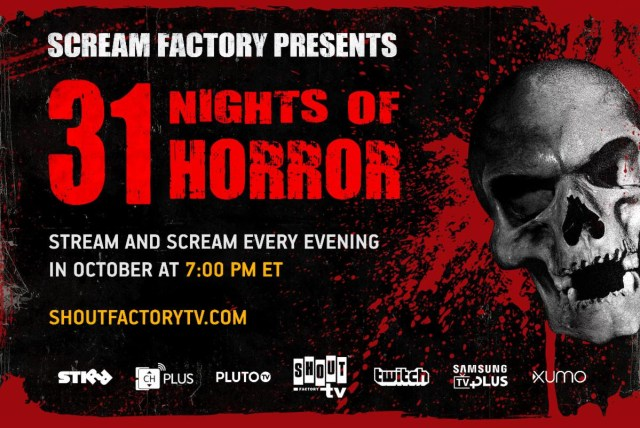 [News] Scream Factory Presents 31 NIGHTS OF HORROR This October