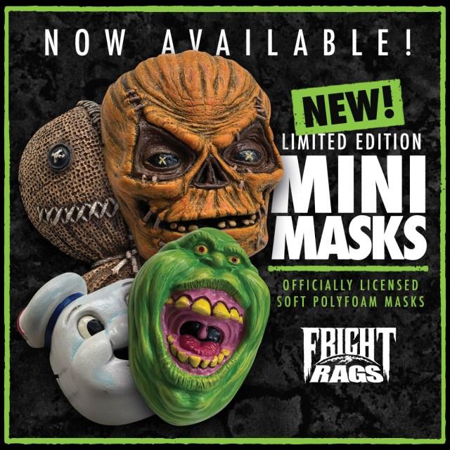 [News] Fright-Rags Debuts TRICK 'R TREAT & GHOSTBUSTERS Mini-Masks!
