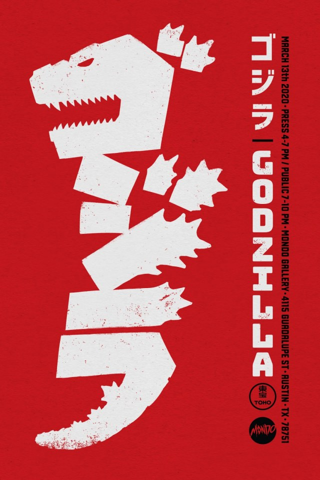 [News] Mondo Awakens GODZILLA at SXSW with a Kaiju-Sized Gallery Show