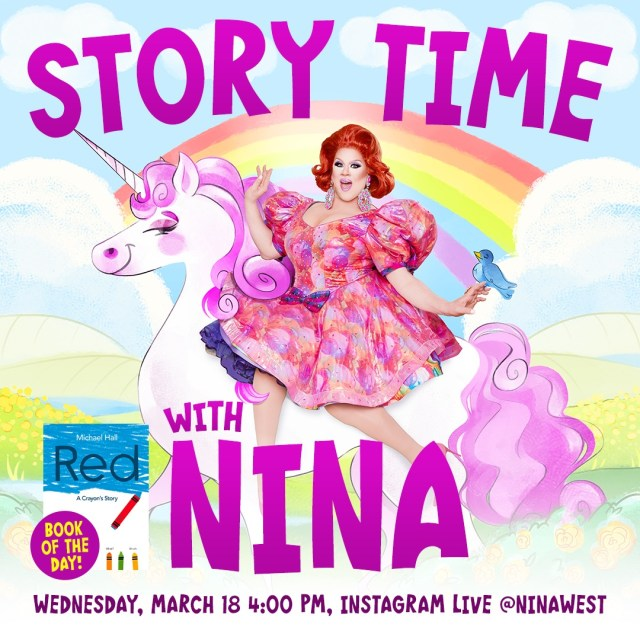 "[News] Nina West Presents ""Story Time With Nina!"" Beginning Today"