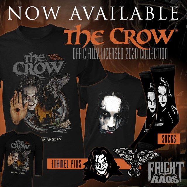 [News] Fright-Rags Fires It Up With New THE CROW, CHOPPING MALL Merch
