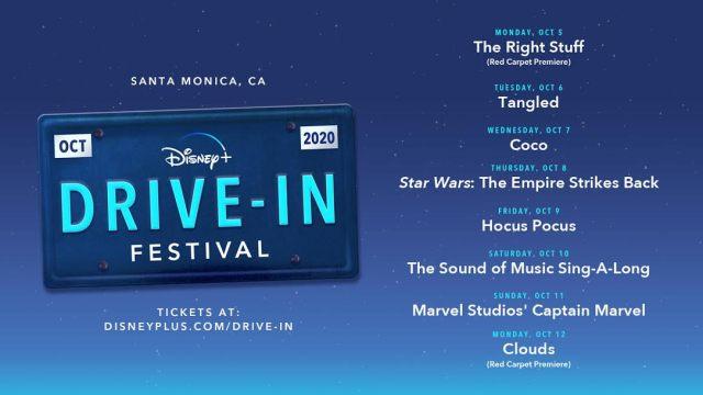 [News] The Disney+ Drive-In Festival Begins October 5
