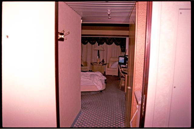 Image of the vacant hotel room in which a Norwegian woman was found dead.