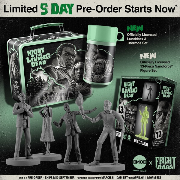 [News] Limited Edition NIGHT OF THE LIVING DEAD Collectibles Coming to Fright-Rags