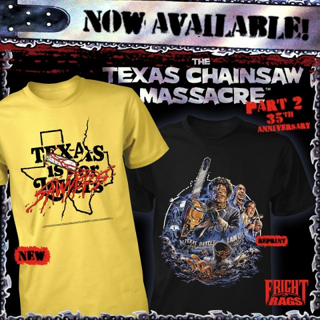 [News] New Fright-Rags Designs Featuring TEXAS CHAINSAW MASSACRE 2, CHUCKY, & CREEPSHOW Dropped!