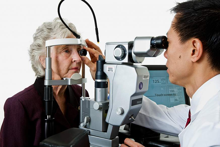 image of a patient having an eye exam