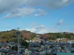 大壇口古戦場から二本松城方面を見た写真