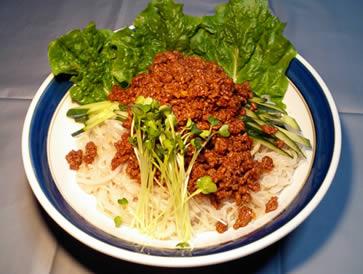 サツマイモ冷麺アレンジレピシジャージャー麺風