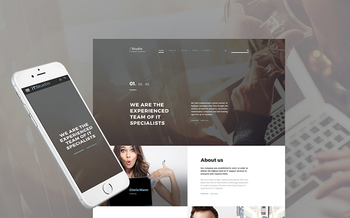 iTStudio - IT Support Company Responsive Website Template