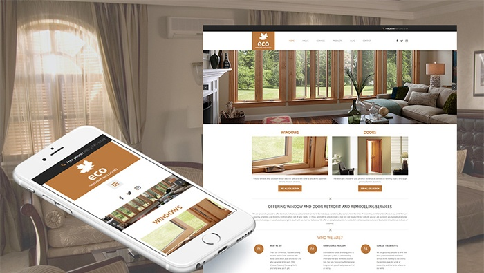 Windows & Doors Responsive Moto CMS 3 Template