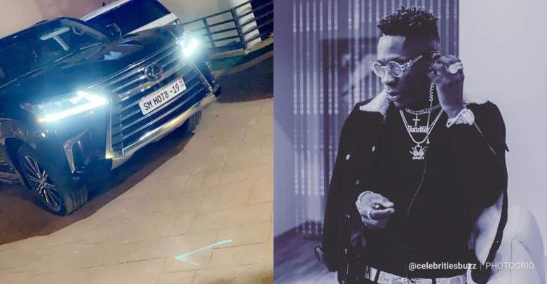 Shatta Wale customise his new car with the name of Infinix Mobile Phone