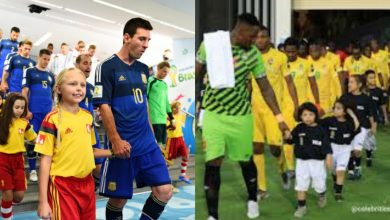 Photo of Why Footballers hold the hands of kids before stepping on the field