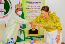 Photo of Tonto Dikeh appointed an ambassador of peace building by the Nigerian Christian Pilgrim Commission